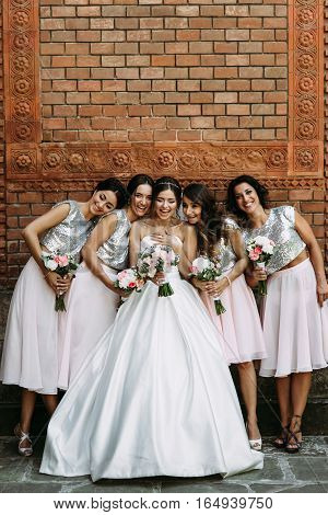 Beautiful Smiles Of The Bride And Her Friends
