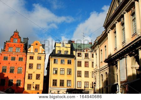 Stortorget place in Gamla stan Stockholm - Sweden