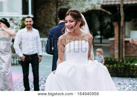Bride is having fun on the dance floor