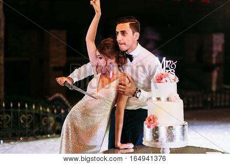 Funny Photo Of The Couple On Their Wedding