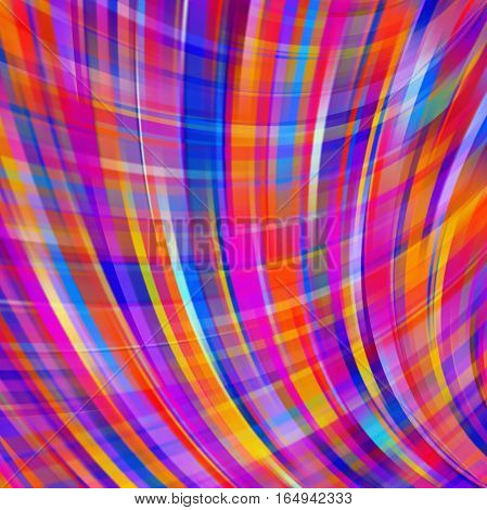 Abstract pink background with smooth lines. Color waves, pattern, art, technology wallpaper, technology background. Vector illustration