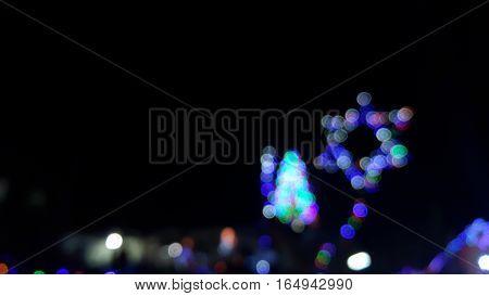 Seamlessly looping of defocused flowing light dots