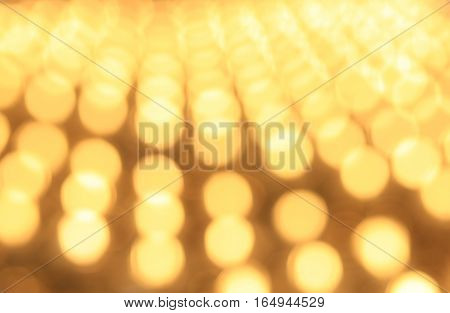 Yellow blured background. Yellow blured circles. Bright celebration backdrop.