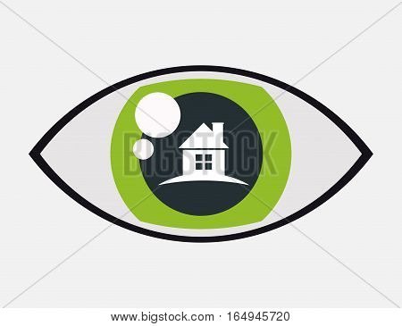 home securityvigilance eye protection vector illustration eps 10