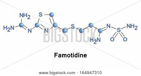 Famotidine is a histamine H2 receptor antagonist that inhibits stomach acid production. It is commonly used in the treatment of peptic ulcer disease and gastroesophageal reflux disease.