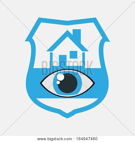 home security eye surveillance vector illustration eps 10