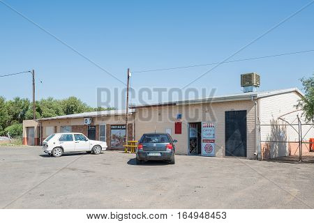 RITCHIE SOUTH AFRICA - DECEMBER 31 2016: A shopping centre in Ritchie a small town in the Sol Plaatje municipality of the Northern Cape Province