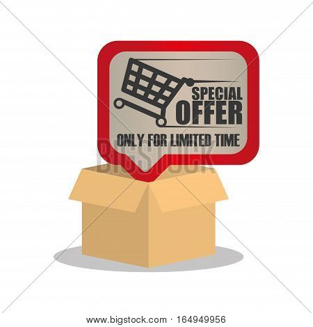 online special offer limited time vector illustration eps 10