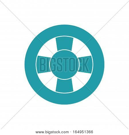 blue and white life buoy safety travel vector illustration eps 10