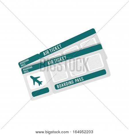 ticket airplane travel checkin vector illustration eps 10
