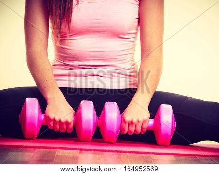 Cheerful Girl Liftingweights