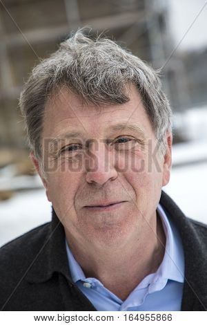 Handsome Middle Age Man Outdoor Portrait
