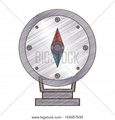 drawing compass location gps travel vector illustration eps 10