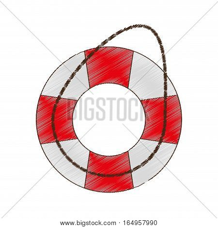 drawing life buoy safety travel vector illustration eps 10