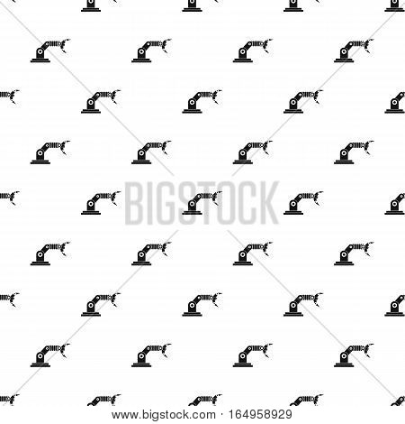Robotic hand manipulator pattern. Simple illustration of robotic hand manipulator vector pattern for web