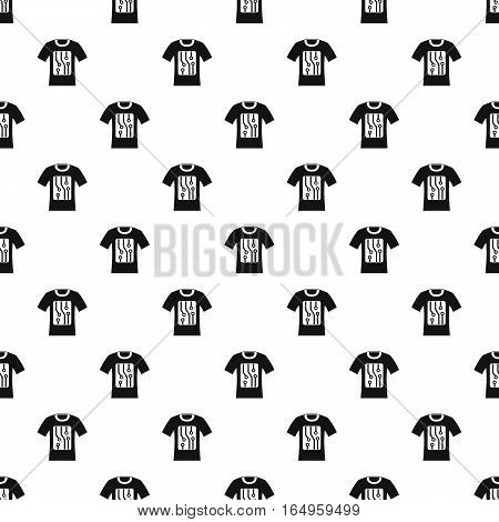 Sensor electronic t shirt pattern. Simple illustration of sensor electronic t shirt vector pattern for web