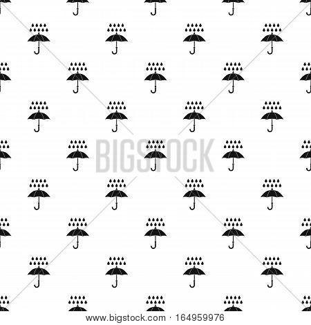 Umbrella and rain drops pattern. Simple illustration of umbrella and rain drops vector pattern for web