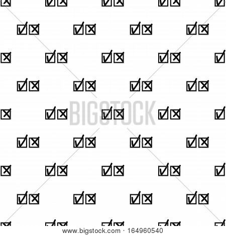 Tick and cross pattern. Simple illustration of tick and cross vector pattern for web