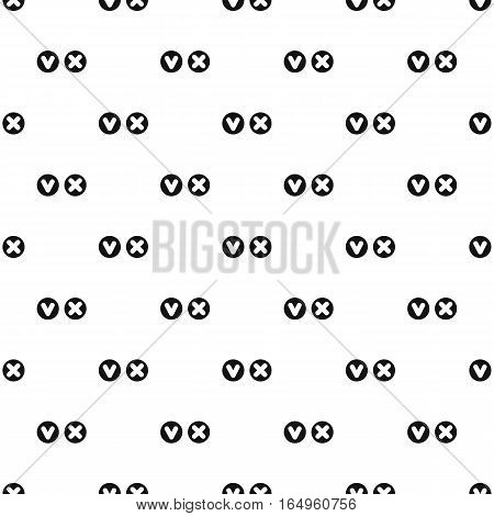 Tick and cross signs pattern. Simple illustration of tick and cross signs vector pattern for web