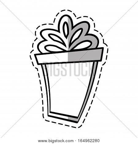 gift box ribbon parcel shopping linea shadow vector illustration eps 10