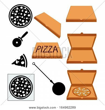 Pizza Italian Fresh Food Design Illustration