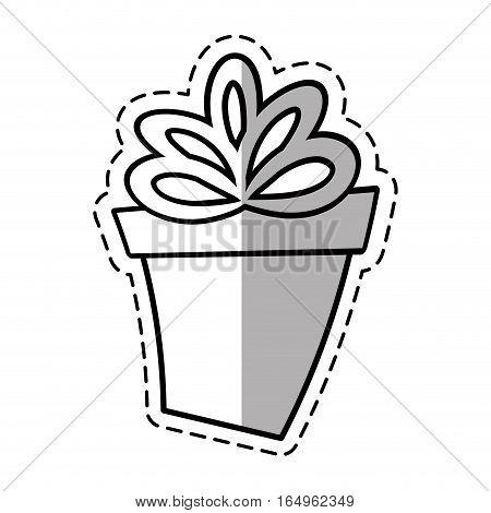 gift round box ribbon linea shadow vector illustration eps 10