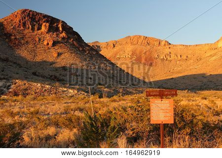Burro Springs Trail in Big Bend National Park, Texas
