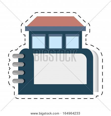 real estate directory book symbol cut line vector illustration eps 10