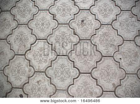 Closeup of ceramic floor tiles