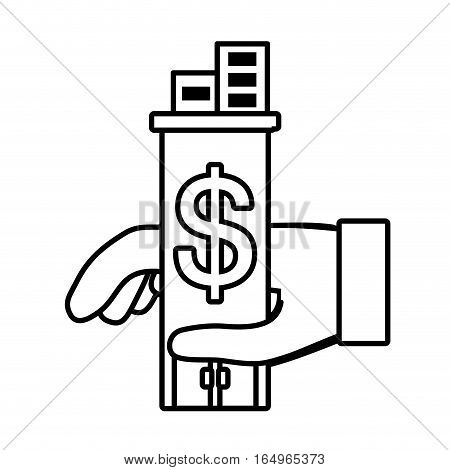 real estate business investment price outline vector illustration eps 10