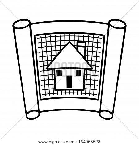 architecture plans building structure outline vector illustration eps 10