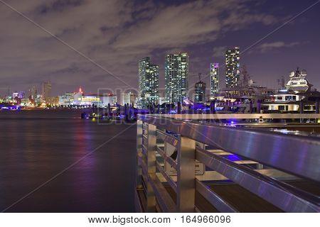 Miami, Florida - Usa - January 08, 2016: Watson Island Park In Miami