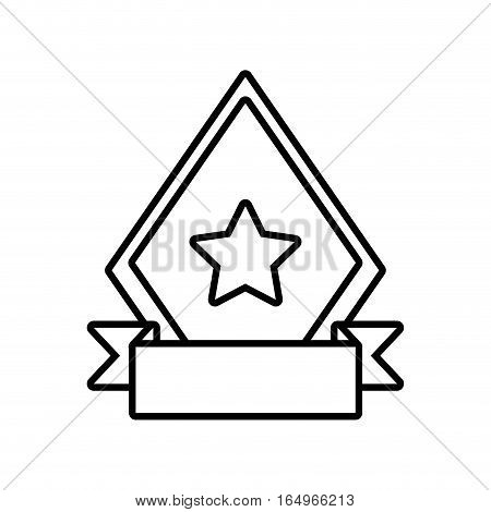 shield star quality badge ribbon outline empty vector illustration eps 10