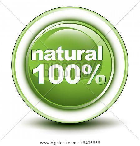 icono de botón web ambiental / natural diseño / vector