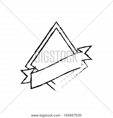 shield star quality badge ribbon sketch vector illustration eps 10