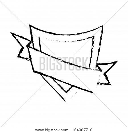 shield element sticker sketch vector illustration eps 10