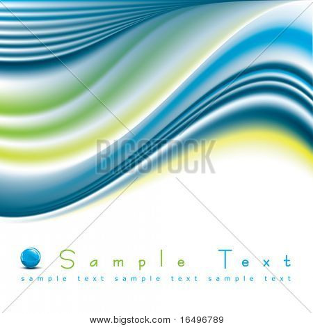 abstract background / vector illustration / futuristic wave design poster