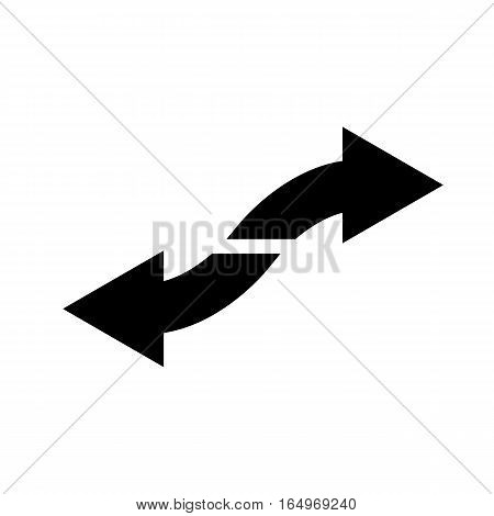 left and right icon on white background. left and right sign.