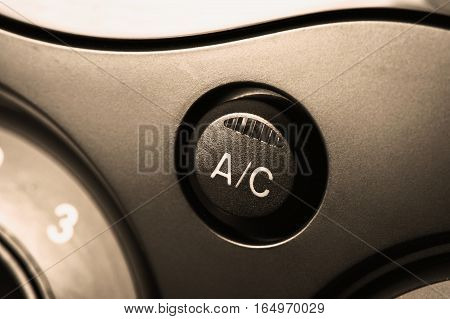 car air conditioner on/off switch on car console