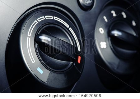 car air conditioner switch temperature switch on car console