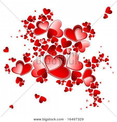valentine heart petals blooming