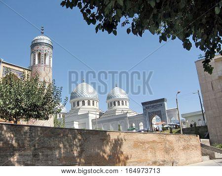 Madrassah and Mosque in Tashkent Uzbekistan September 13 2007