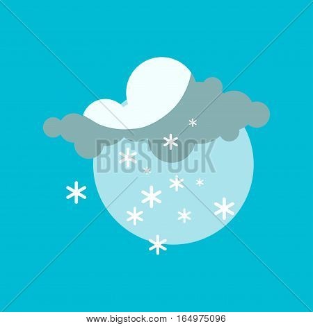 Weather icon vector illustration. Season thermometer design thunder temperature sign. Meteorology sky snowflake nature element for web application.