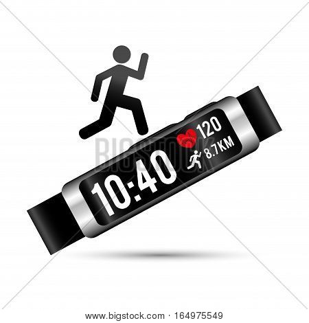 smart wristband tracker fitness wearable technology vector illustration eps 10