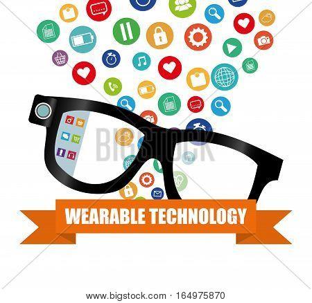 smart glasses wearable technology gadget vector illustration eps 10