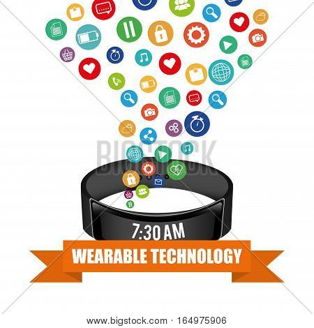 smart wristband tracker fitness activity vector illustration eps 10