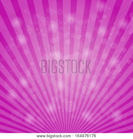 Abstract bokeh on pink background, stock vector
