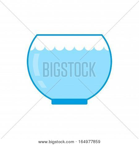 Aquarium Empty Isolated. Glass Vessel With Water To Fish On White Background