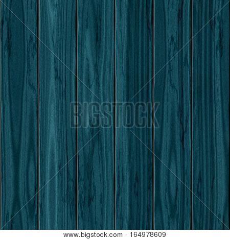 Teal indigo petrol blue wooden planks seamless texture. 3D