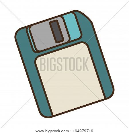 cartoon floppy diskette storage information office vector illustration eps 10